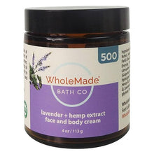 Load image into Gallery viewer, Wholemade Hemp Face and Body Cream 500mg