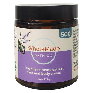 Wholemade Hemp Face and Body Cream 500mg