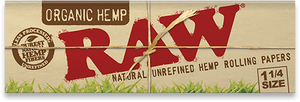 RAW Organic Hemp Natural Unrefined Rolling Papers