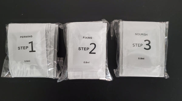 Step 1, Step 2 & Step 3 Sachets for Brow Lamination or Lash Lift