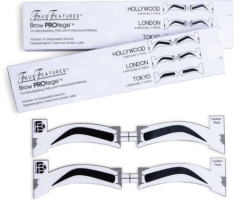 Brow PROtege' Eyebrow Stencils For The Professional [product_price] Real Eyez Beauty