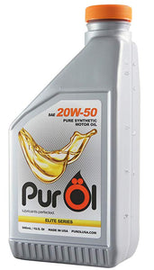 PurOl Elite Series Synthetic Motor Oil 20W50 1L - Universal
