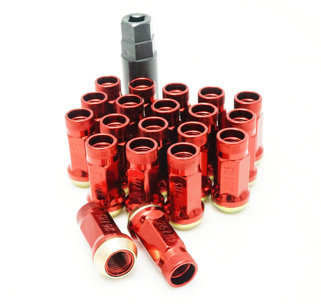 Muteki SR45R Open End Lug Nuts - Red