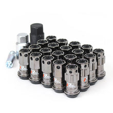 Load image into Gallery viewer, Project Kics R40 Iconix Classical Lug Nuts 12x1.50 Gunmetal Body w/ Black Plastic Cap - 16+4 Combo