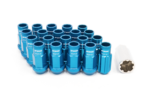 Work Wheels RS-R Lug Nuts Blue Open End - Universal