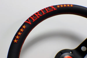 Vertex 10 Star 330mm Steering Wheel Red