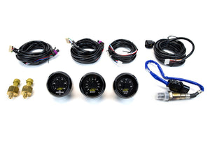AEM 3-Gauge Combo 52mm UEGO Wideband A/F Ratio + Oil Pressure + Turbo Boost | Universal