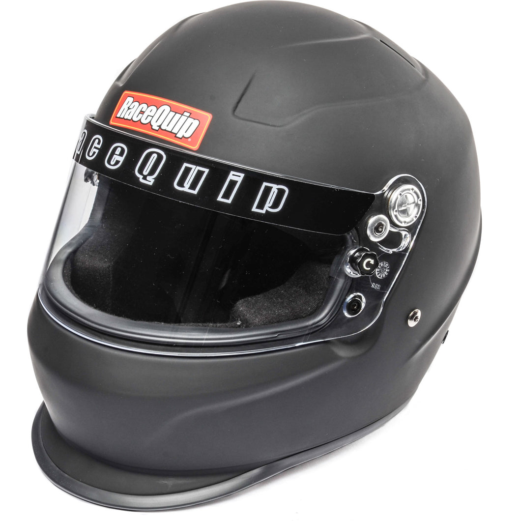 RaceQuip Flat Black PRO15 Full Face Helmet (Snell SA-2015 Rated)