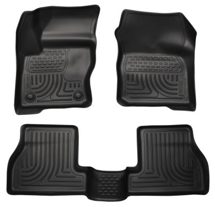 Husky Liners WeatherBeater Combo Black Floor Liners 12-16 Ford Focus ST (4DR/5DR)
