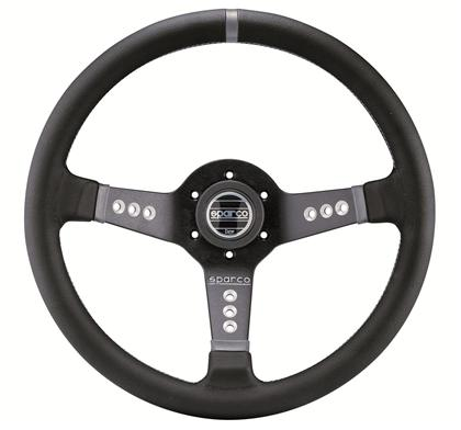 Sparco L777 Leather Steering Wheel Black - Universal