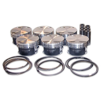 Manley 93-98 Toyota Supra Turbo (2JZGTE) 86.5mm +.5mm Oversized Bore 8.5:1 Dish Piston Set with Rings