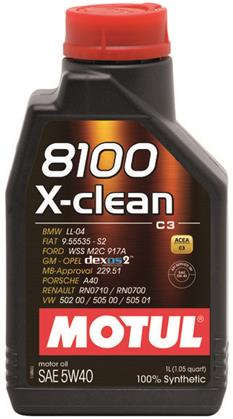 Motul 8100 5W40 X-CLEAN C3 1L Synthetic Engine Oil - Universal
