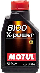 Motul 8100 10W60 X-Power 1L Synthetic Engine Oil - Universal