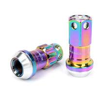 Load image into Gallery viewer, NRG 600 Series Extended Steel Lug & Lock Nut Set w/ Dust Caps - Neochrome
