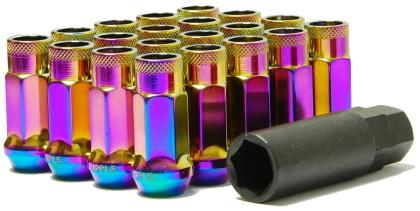 Muteki SR48 Open End Lug Nuts - Neo Chrome