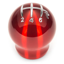 Load image into Gallery viewer, Raceseng Contour Shift Knob Gate 3 6-Speed  M10x1.25mm - Red Translucent (Fits T56 & more)