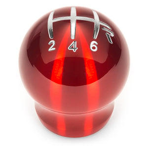 Raceseng Contour Shift Knob Gate 3 6-Speed  M10x1.25mm - Red Translucent (Fits T56 & more)