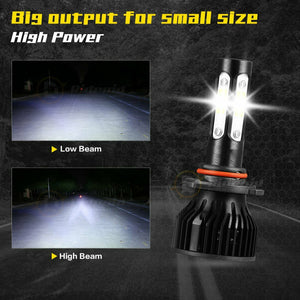 RDR Midnight Series LED Headlights Bulbs Kit (Choose Bulb Size)