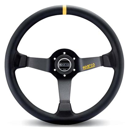 Sparco R345 Leather Steering Wheel 350mm Black