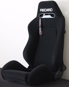 Recaro Speed Seat w/ Subhole - Black Avus Cloth, White Logo - Universal