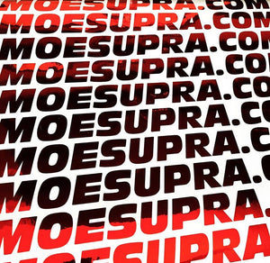 "MOESUPRA.COM 2""x17"" Decal"