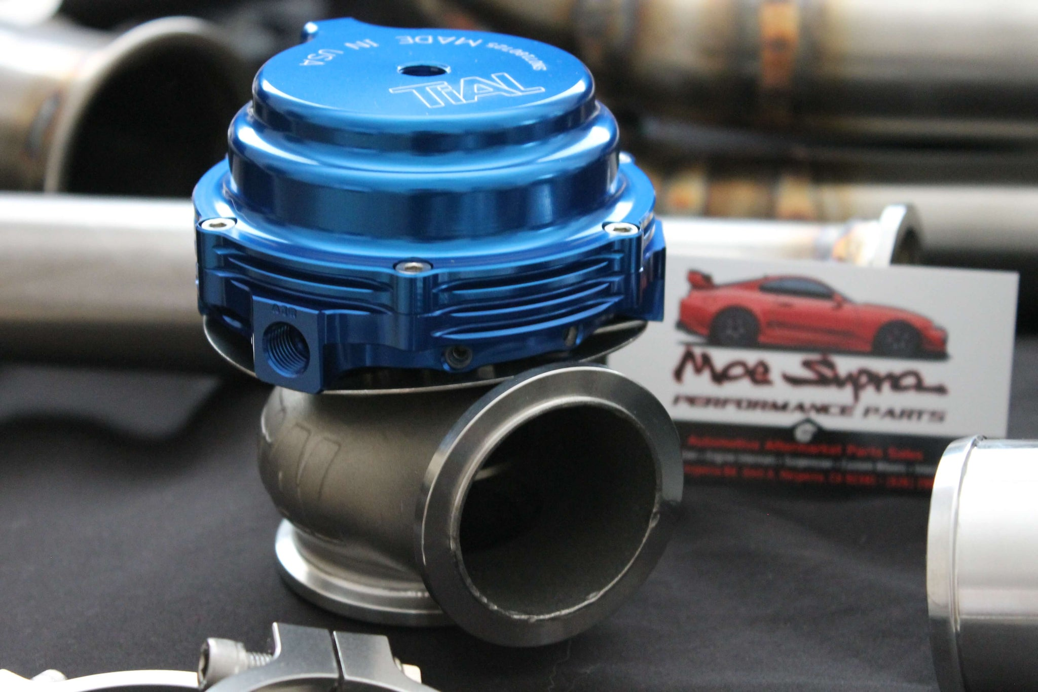 TiAL MV-RBK 44mm Wastegate Black With V-Band and Flanges All Springs
