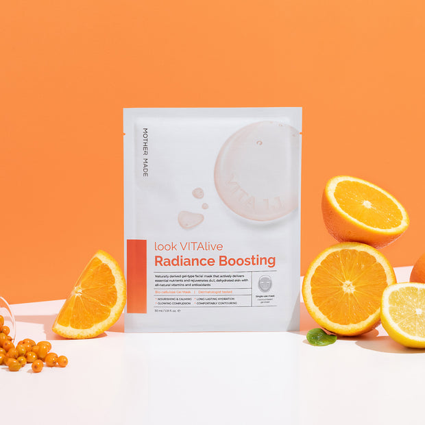 Look VITAlive Radiance Radiance Boosting Biocellulose Gel Mask, Pack of 6