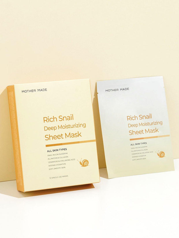 Deep Moisturizing Rich Snail Face Sheet Mask - MOTHER MADE