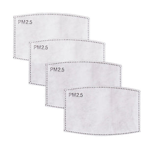 Face Mask PM2.5 Filters - 5 layer. Multipack of 10