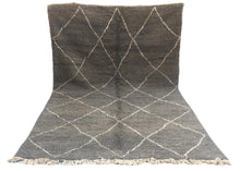 Load image into Gallery viewer, Aamir - Dark Grey Moroccan Beni Ourain Rug 320 x 208cm