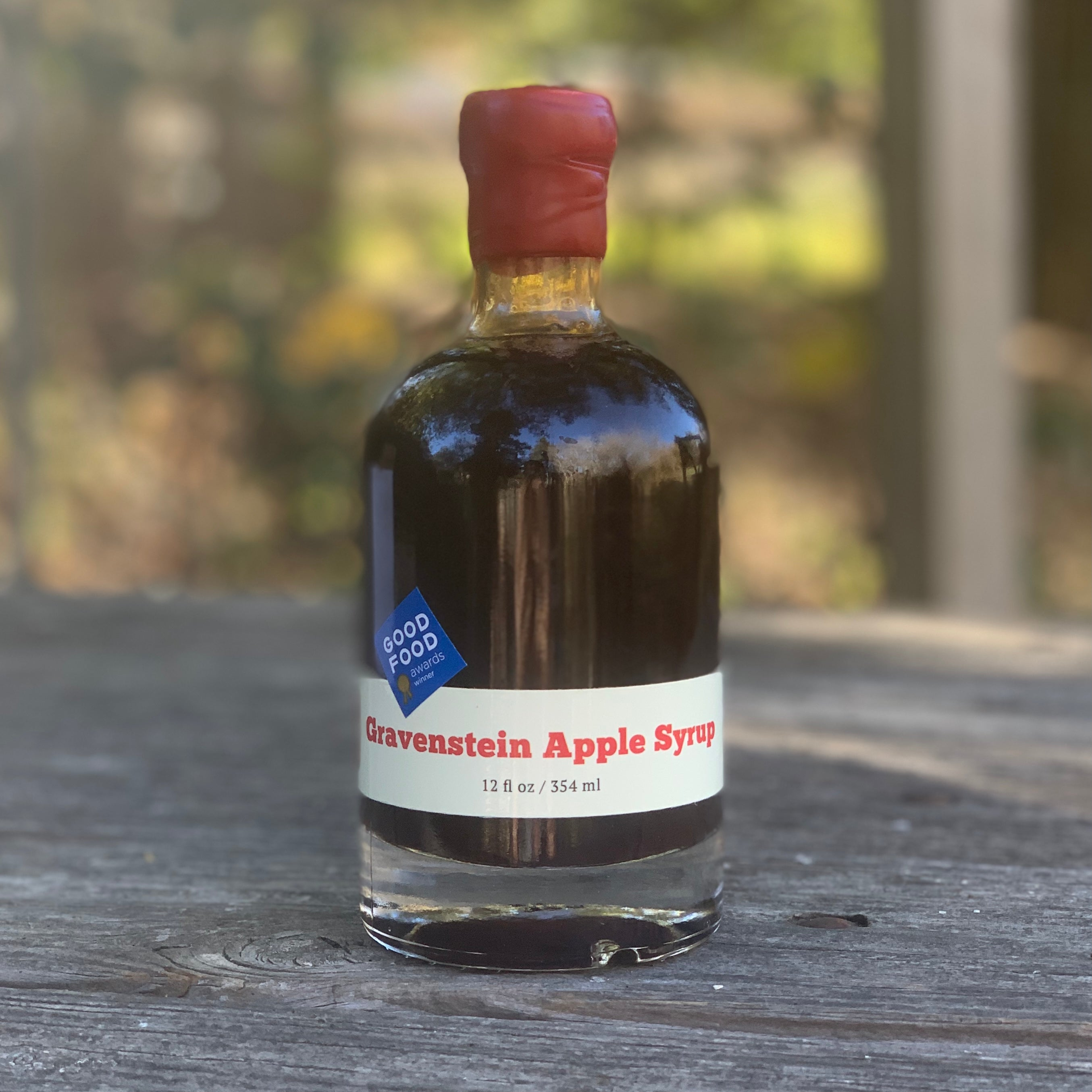 Gravenstein Apple Syrup 12 oz Wax Dipped Bottle