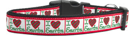 I Heart Santa Nylon Collar