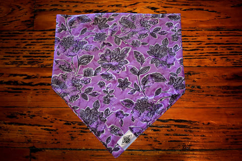 Purple Pansies Wandermutt Bandana