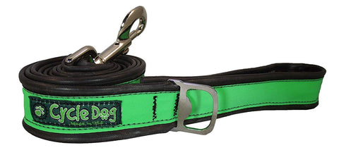 Green Reflective Bike Tube Dog Leash with Bottle Opener