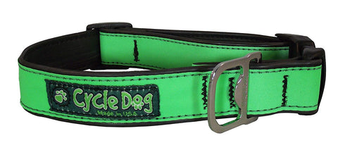 CycleDog Reflective Green Bike Tubing with Bottle Opener Collar