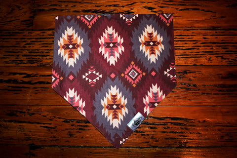 Burgundy Native Wandermutt Bandana
