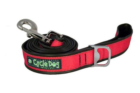 Hot Pink Reflective Bike Tube Dog Leash with Bottle Opener