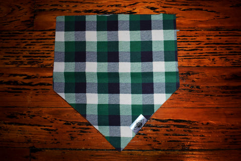 Forest Green Checkers Wandermutt Bandana