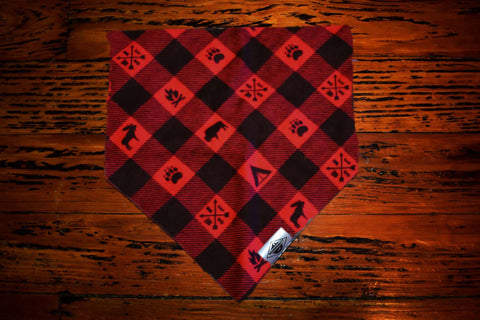 Happy Camper Red Wandermutt Bandana