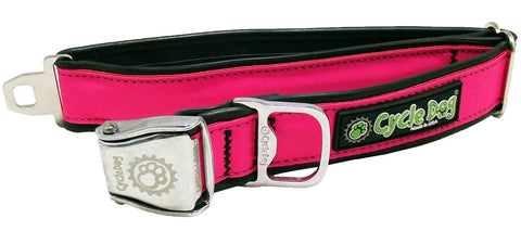 CycleDog Reflective Hot Pink Bike Tubing with Bottle Opener Collar