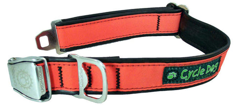 CycleDog Reflective Orange Bike Tubing with Bottle Opener Collar