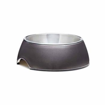 Stainless Steel Bowl with Non-Skid Rubber Trim