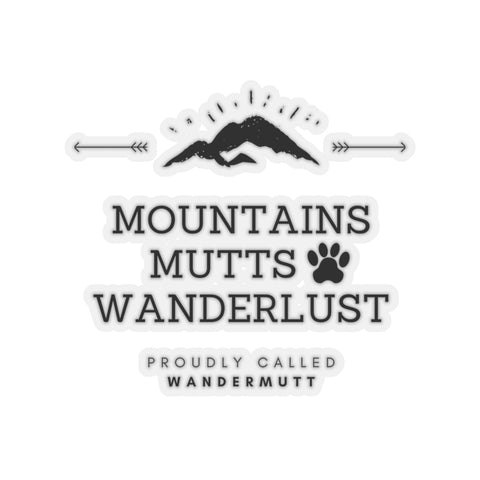 Mountains Mutts Wanderlust Window Decal
