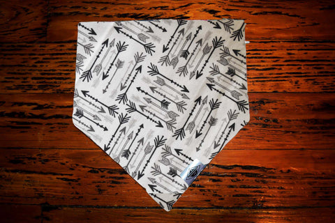 Black and Grey Arrows Wandermutt Bandana