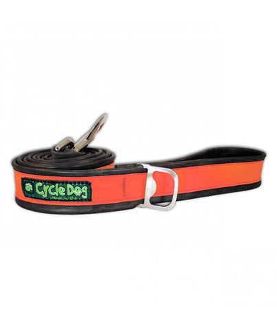 Orange Reflective Bike Tube Dog Leash with Bottle Opener