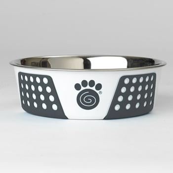 Stainless Steel with Rubber Grip Food/Water Bowl