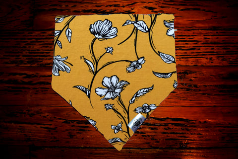 Yellow Wildflower Wandermutt Bandana