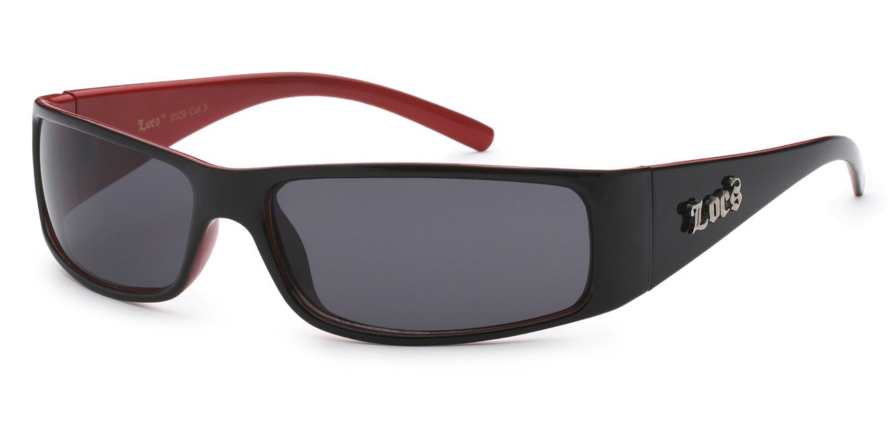 Locs 9029 Black Red | Gangster Sunglasses