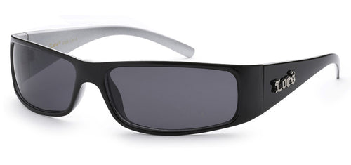 Locs 9029 Black White | Gangster Sunglasses