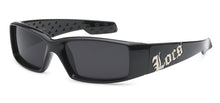 Load image into Gallery viewer, Locs 9052 Black | Gangster Sunglasses
